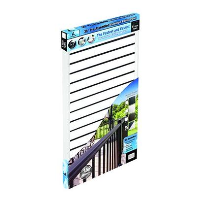 "Otoli Preassembled Powder Coated Aluminum Railing Panel 36"" x 6'  - Piano"