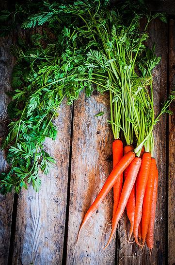Beautiful long carrots