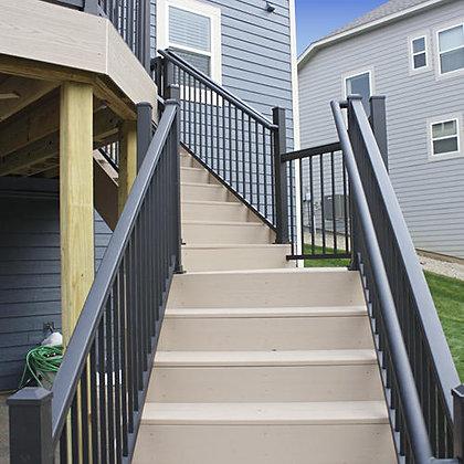 "Otoli Preassembled Powder Coated Aluminum Stair Panel 36"" x 6'  - Bronze"
