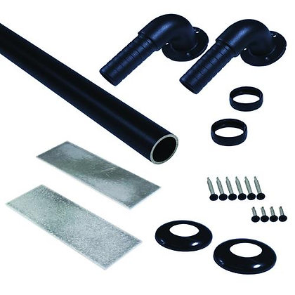 Otoli ADA Pipe Rail and Return Kit - Black