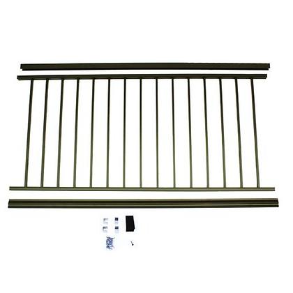 "Otoli Preassembled Powder Coated Aluminum Railing Panel 36"" x 6' - Bronze"