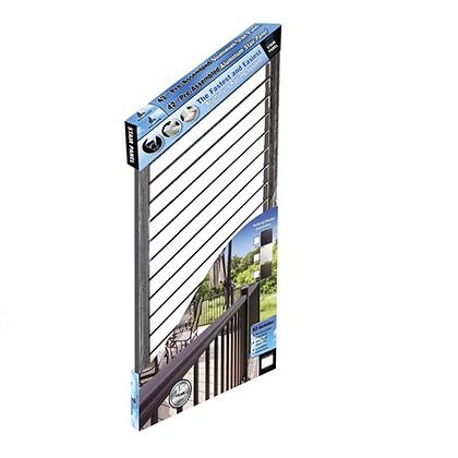 "Otoli Preassembled Powder Coated Aluminum Stair Panel 42"" x 6' - Bronze"