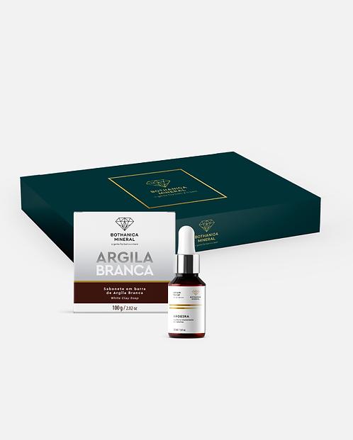 BOX SABONETE DE ARGILA BRANCA + SÉRUM FACIAL DE AROEIRA