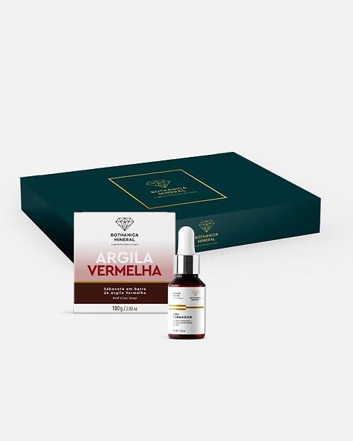 BOX SABONETE DE ARGILA VERMELHA + SÉRUM FACIAL FIRMADOR