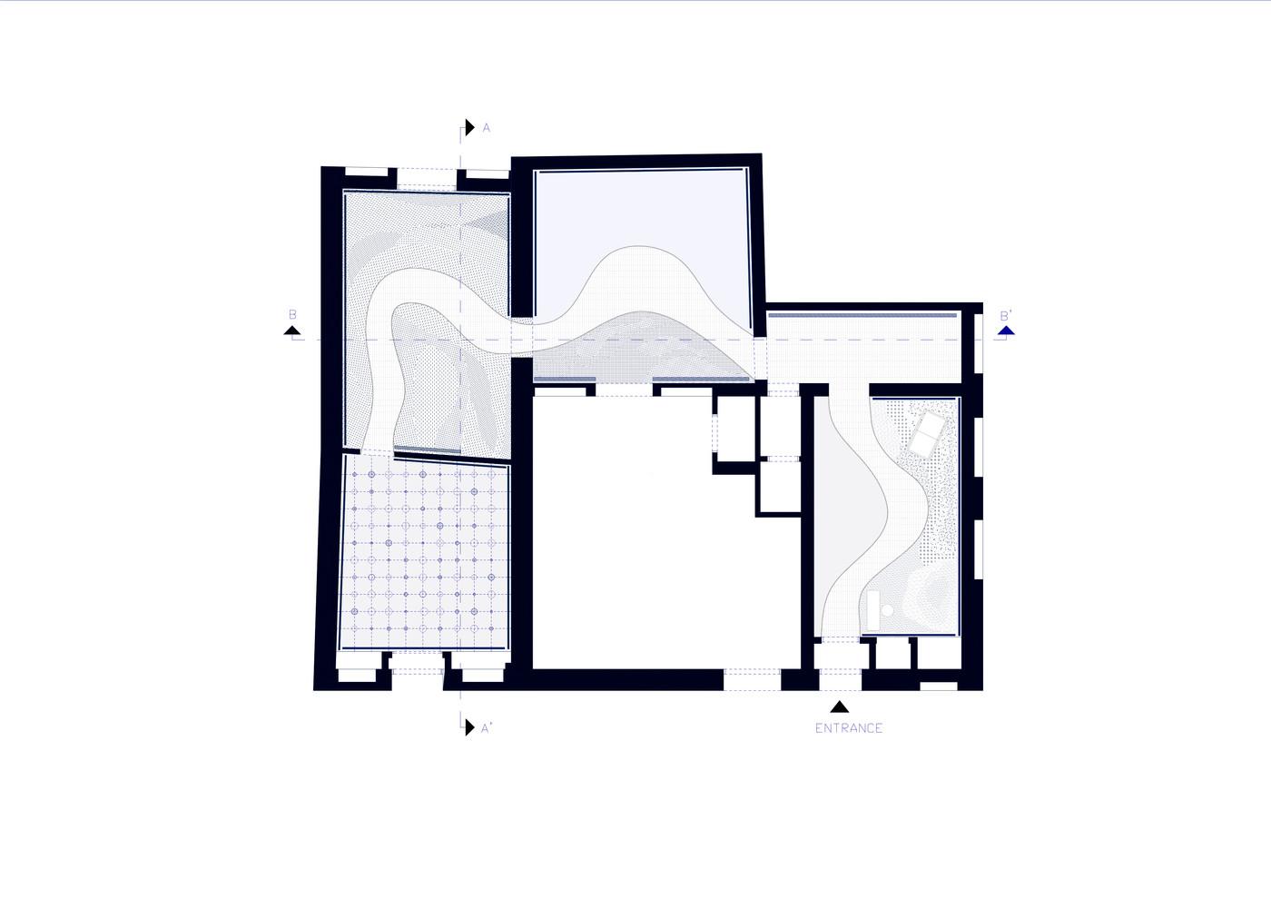 Plan of pavillion