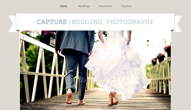 Eventer website templates – Bryllupsfotograf