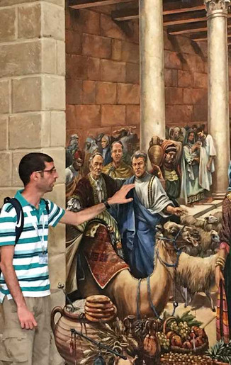 Tour in the Cardo in Jerusalem