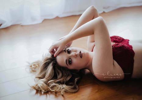 Natural light indoor boudoir session