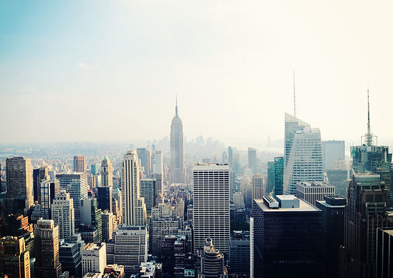 New York City Manhattan skyline aerial view with Empire State building in the fog.jpg