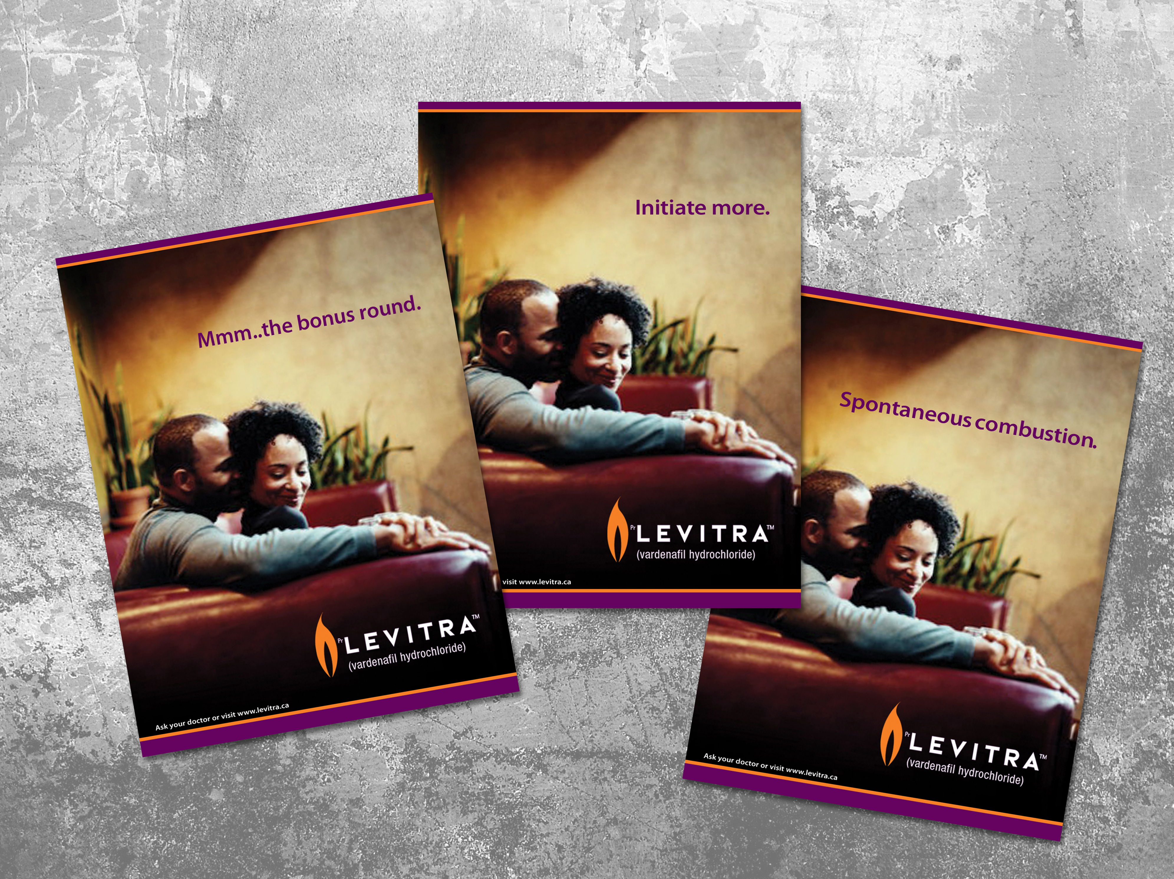Levitra Ad campaign comps