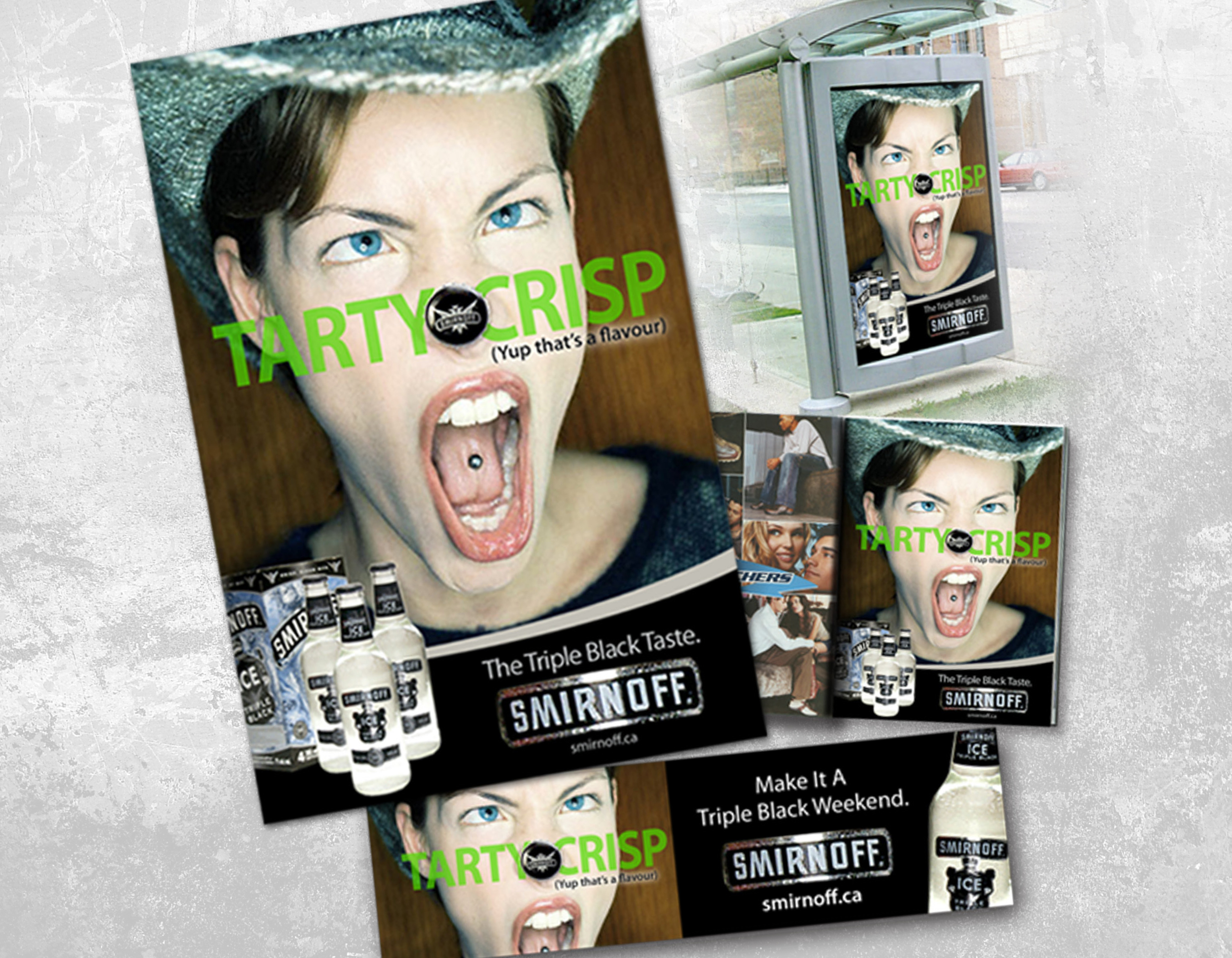 Smirnoff Triple Black Concept: Tarty