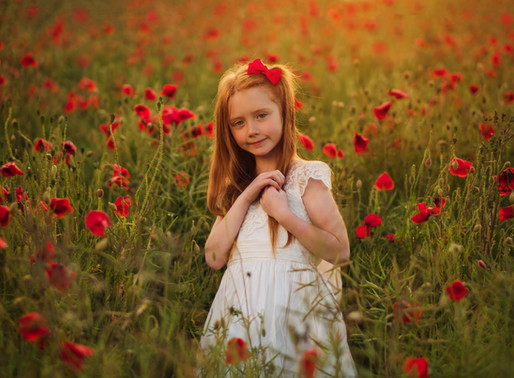 Tillie-Mae's Photo shoot in the poppies & daisies