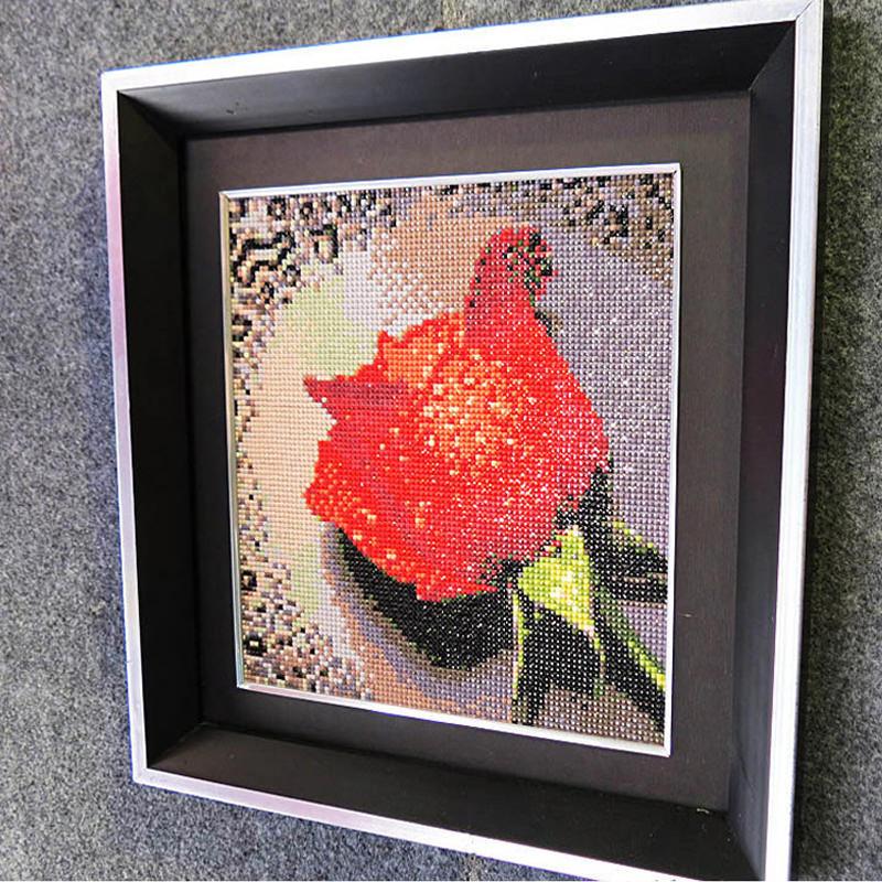 алмазная мозаика роза