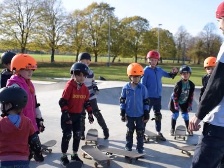 Тренировка на скейтборде начинается с разминки