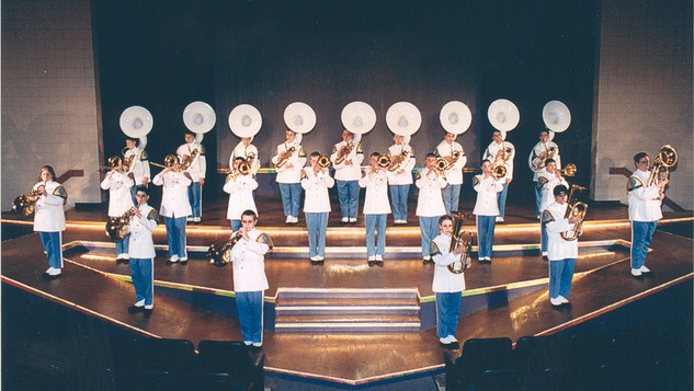 Trombones, French Horns and Sousaphones are featured during Showcase 2002