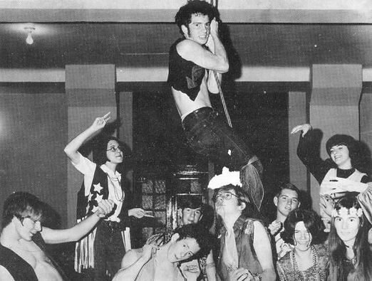 "A scene from ""Hair"" in Busy Bee Band on Broadway 1971"