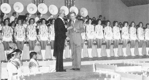 Senator Robert C. Byrd greets the crowd at East Fairmont Follies 1981