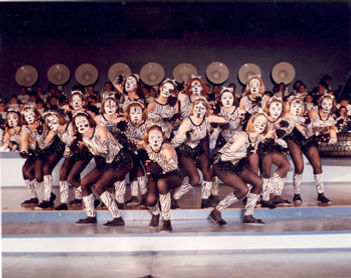 "Members of the Honeybees perform Jellicle Ball from the musical ""Cats""."
