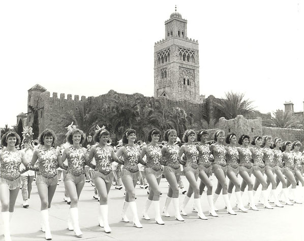 The Honeybees are shown on parade at EPCOT CENTER in May 1987