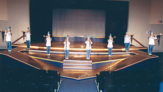 Busy Bee Band Herald Fanfare trumpets are featured during Showcase 2002
