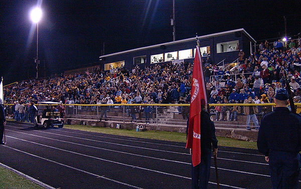 Crowd at an East-West Game at East-West Stadium in Fairmont WV