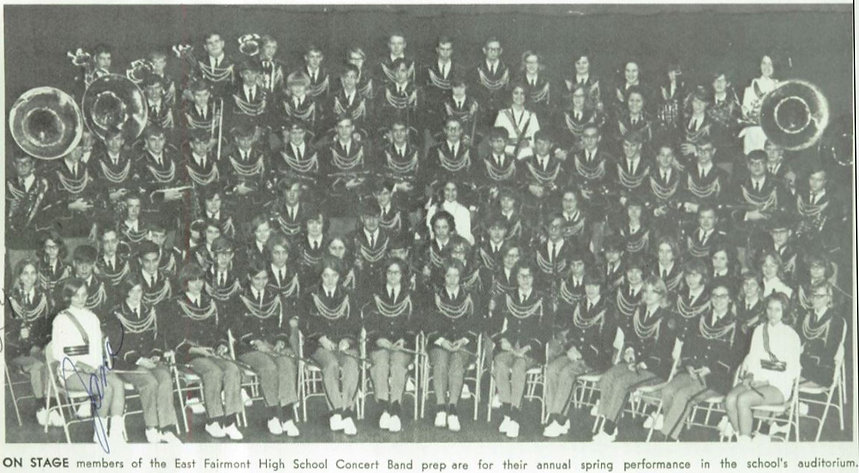 1967-68 Busy Bee Band & Honeybees prepare for spring concert