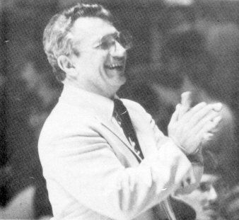 Dr. William C. Moffitt visits th Busy Bee Band during Follies 1986