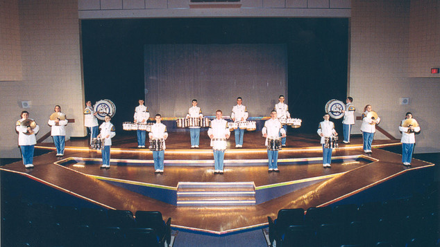 The Busy Bee Band Percussion secion play a tune during Showcase 2002