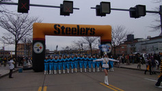Busy Bee Band performs at Pittsburgh Steelers game at Heinz Field