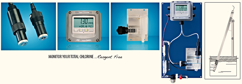 Reagent less total chlorine monitor