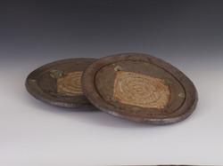 Natural clay plates