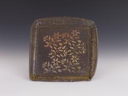 Floral square platter