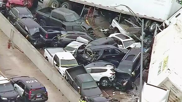 Fort Worth PILEUP involving 100 vehicles leaves at least 6 dead, multiple people injured