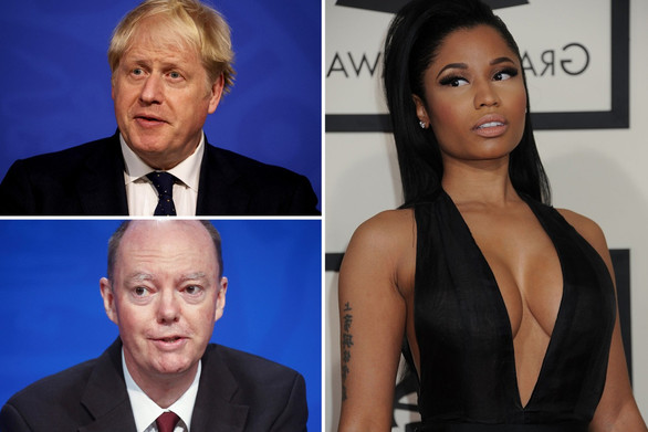 Nicki Minaj gives Boris a hilarious English accent in a video and calls Laura Kuenssberg a 'dumbo'