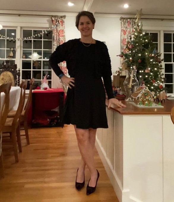 Woman vows never to buy clothes again after wearing same dress for 100 days