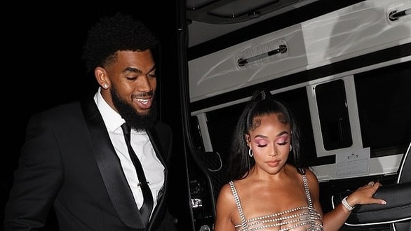 Jordyn Woods slays in racy chain dress to celebrate her 24th birthday with beau Karl-Anthony Towns