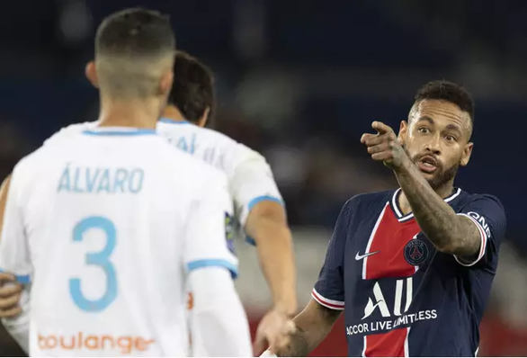 Neymar claims he was racially abused by Marseille defender Alvaro Gonzalez