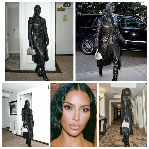 Kim Kardashian dons weird leather outfit after sharing love tune amid conflicted feelings for Kanye