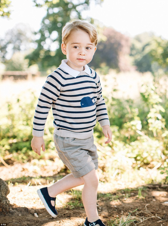 ADORABLE PRINCE GEORGE IS THREE TODAY