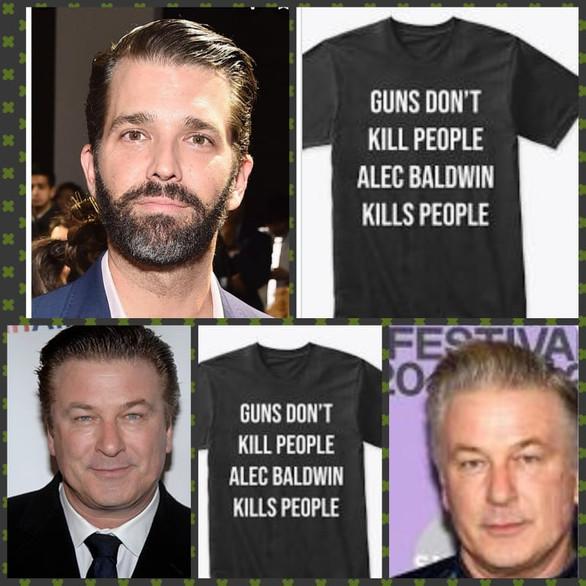 Donald Trump Jr sells T-shirt mocking Alec Baldwin and the death of Halyna Hutchins is OK