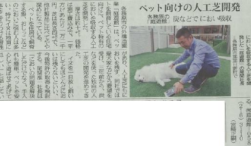 中日新聞に掲載されました 人工芝