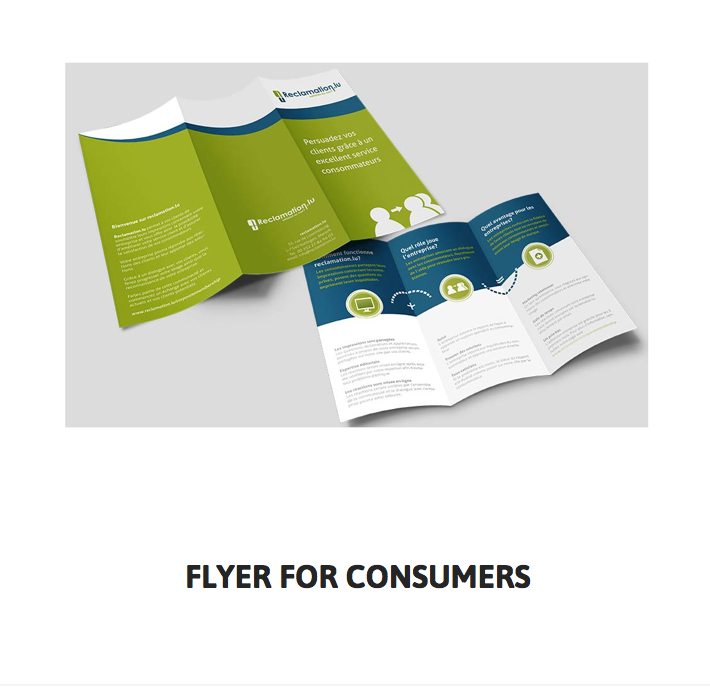 Flyer for consumers