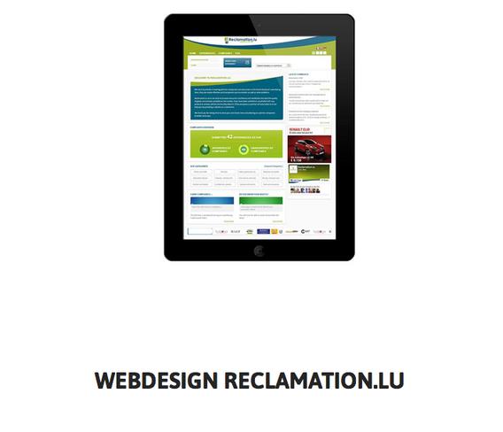 Reclamation.lu Webdesign