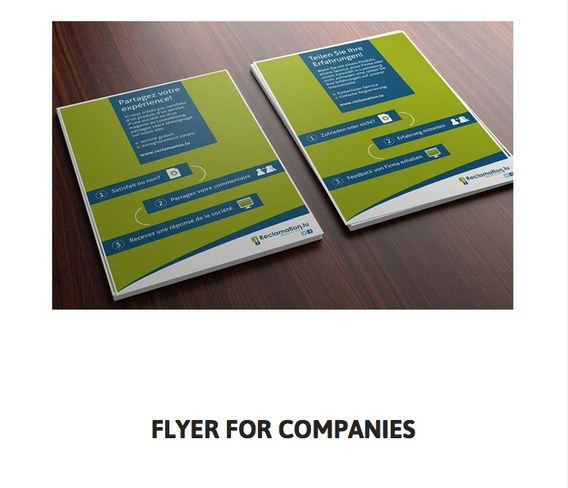 Flyer for companies