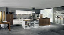 Alno Kitchen: White and Brown Matte