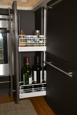 Pull-out Wine + Spice Storage