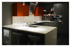Tri-colour Condo Kitchen