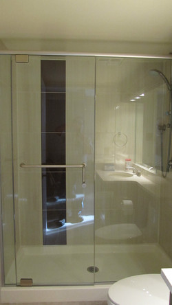 Shower Detail in this bachelor pad