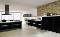 Alno Kitchen: Black High Gloss GLASS