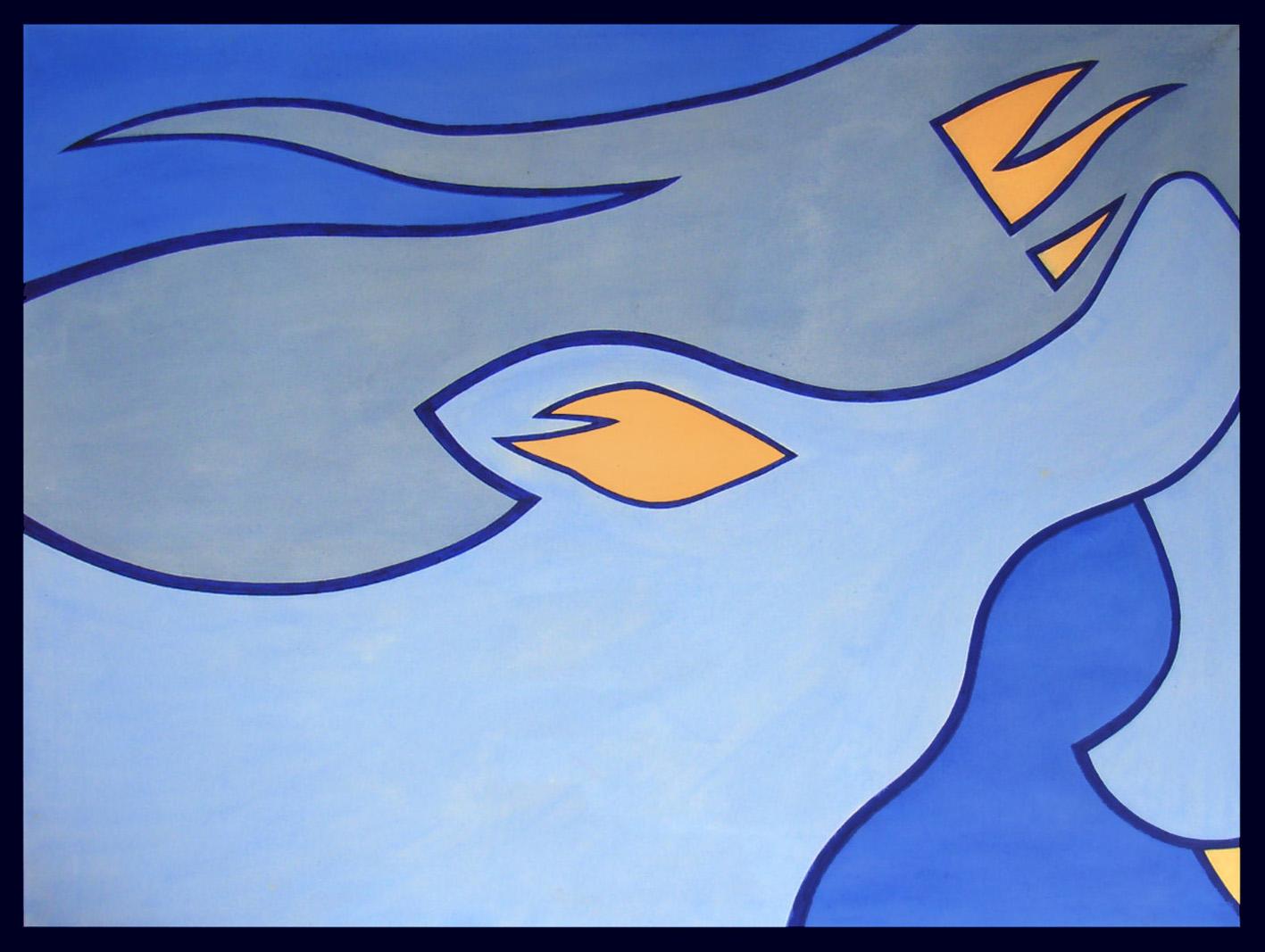 Wind in her dress - Blue